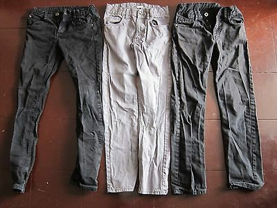 Boys Lot of Skinny Jeans and trousers Black Grey 9-10 -11-12 Zara H&M