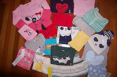 NWT Girls 3T HUGE 19 Piece Fall Winter Lot NICE Items GYMBOREE CRAZY 8 CARTER'S