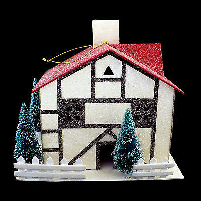 German Village Christmas 'paper' House / Extra-Large Size