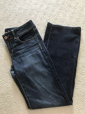 American Eagle Stretch Skinny Boots Jeans- Womens 8- Medium Wash