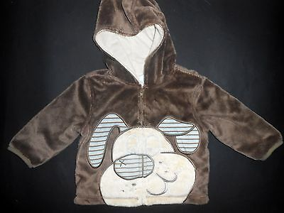 Babie's Hooded Fleece Jacket, For Ages 9 to 12 Months