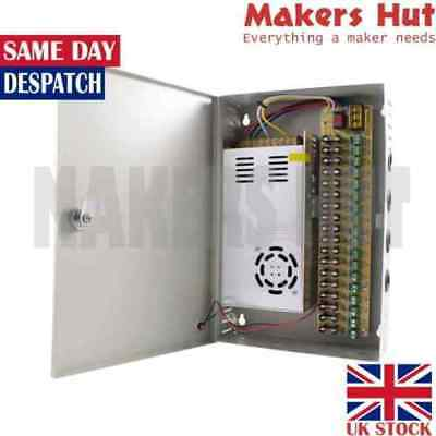 12V Cabinet Power Supply Fused – Switching PSU – 9 to 18 Outputs – 10A to 30A