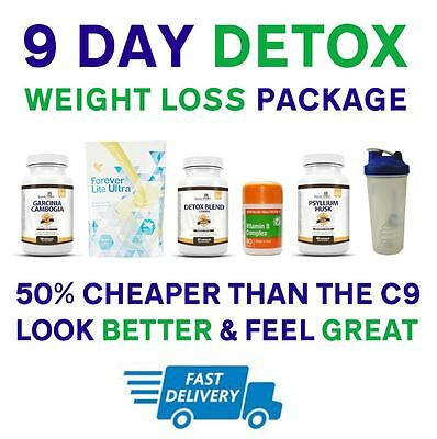 9 Day Clean Detox Package - [ VANILLA ] - Includes C9 Forever Living Lite Ultra