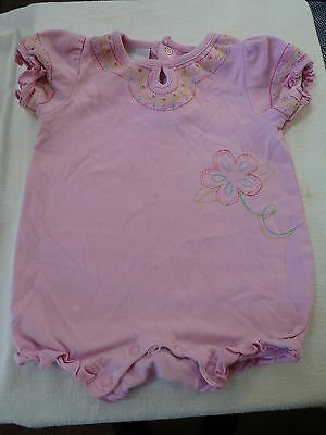 Pink One Piece Outfit with Embroidery Floral Design Baby Connection 6-9 months