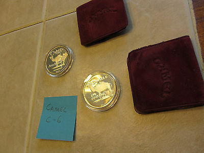"""(2) Camel SILVER COINS 999 fine 1 oz round Camels are Coming, Here - Lot """"C-6"""""""