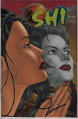 Shi #7 Chromium Edition Cover Signed By Billy Tucci (Vf/nm) Limited To 5,000