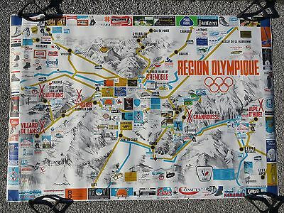 Affiche Poster Ancien Originale Jeux Olympiques Olympic Games Grenoble 1968