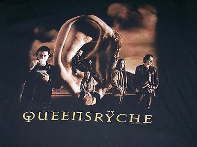 Queensryche 1997 Hear in the Now Tour XL Extra Large Black T-shirt Double Sided
