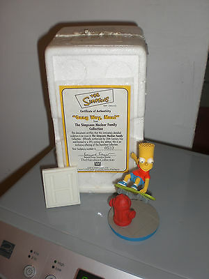 """The SIMPSONS Bart """"Gang Way Man""""  Nuclear Family Collection Hamilton Sculpture"""