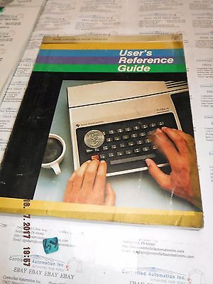 TI/Texas Instruments TI-99/4 User Reference Guide