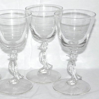 Set of 3 Vintage  Libbey Glassware Old Crow Whiskey Glasses Circa 1960's - Mint!