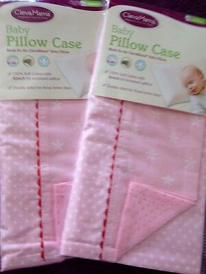 2 Pillow Cases By 'CLEVAMAMA' - Pink - BNWT