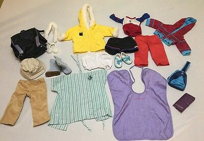 American Girl Clothes Clothes Boots Passport Jackets Shorts Pants 18 Piece Lot