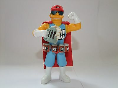 The Simpsons Playmates World of Springfield DuffMan interactive figure