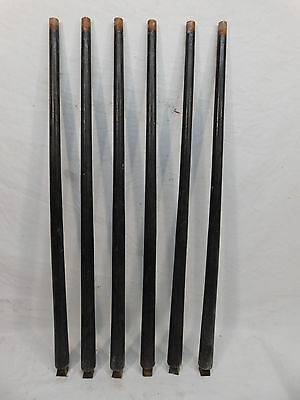 Six Antique Solid Walnut Railing Balusters - C. 1870 Architectural Salvage
