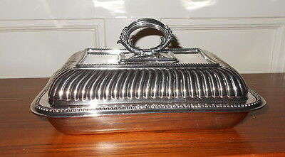 James Dixon & Sons Silver Plate Serving Dish w. Lid- Sheffield England