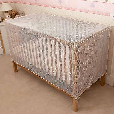 Clippasafe Cot Cotbed Cat Net Insect Protection Bed Netting Safety White