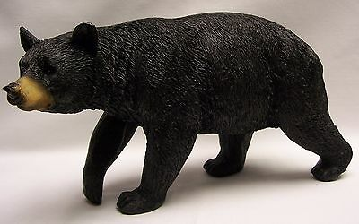 Large Black Bear Walking Figurine Rustic Home/Cabin Decor