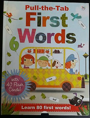 Pull The Tab First Words with 40 Flash Cards (NEW)