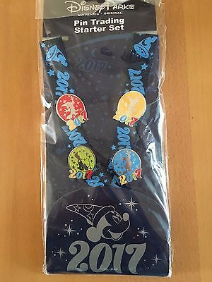Disney Mickey Mouse And Friends Pin Trading Lanyard & Pins Starter Set