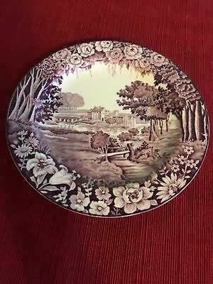 "Enoch Woods 7 3/4"" Salad/fruit Plate Rubens Purple/mulberry Woods & Sons England"