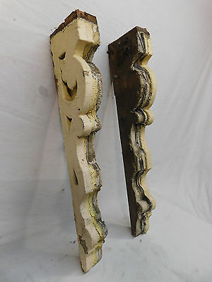 Two Victorian Style Scrolled Wood 1/2 Corbels - C 1885 Fir Architectural Salvage