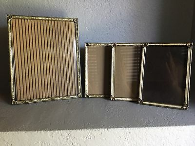 Vintage Picture Frames 50's Gold & Mother Of Pearl 3: 5x7. 1: 8x10 Photo