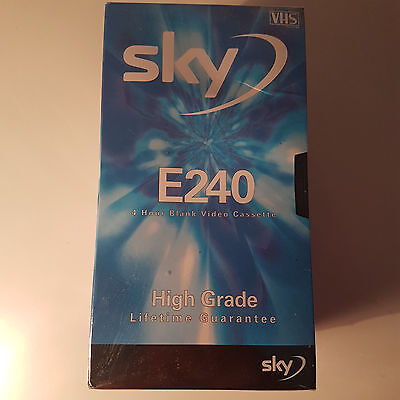 Sky E240 5 x 4 Hours Blank VHS Video Cassette Tapes 5 Pack - New Sealed