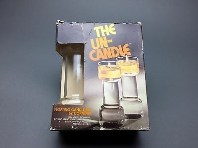Corning Glass Works The Un-Candle, Set of 2, New & Original Box