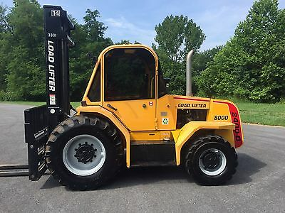 Load Lifter 2400-D 8000 lbs Rough Terrain 4WD Forklift W/ Cab, Great Cond.