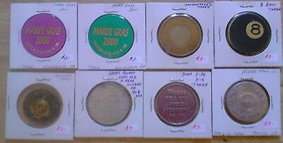 Lot Of 8 Large Tokens / Medals... Take A Look.
