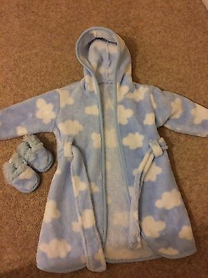 baby dressing gown 0-9 months beansprout