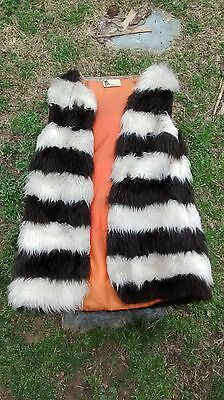 Vintage Super Funk Artificial Mohair? Happy Legs Vest Costume Theater Motorcycle