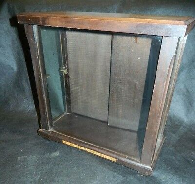 Vintage Wood & Glass Countertop Watch Display Cabinet