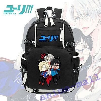 YURI!!! on ICE Backpack School Bag Satchel Knapsack Packsack Travel laptop Bags