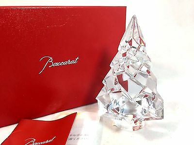 Baccarat MEGEVE Diamant Diamond Fir Christmas Tree Clear Crystal New in Box $420