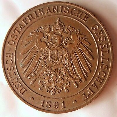1891 GERMAN EAST AFRICA PESA - AU/UNC - Rare African Colonial Coin - Lot #716