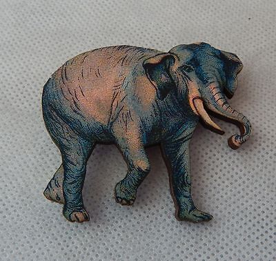Elephant Brooch or Scarf Pin Accessories, Jewelry Wood Fashion New Multi Color