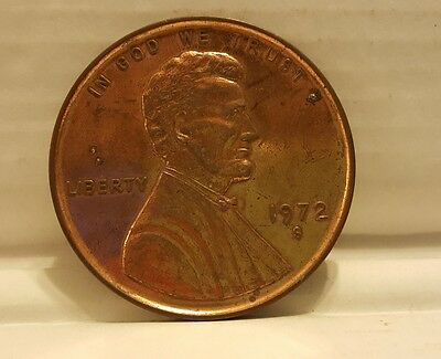 "1972S Large 3"" Lincoln Coin Memorial One Cent Souvenir Penny"