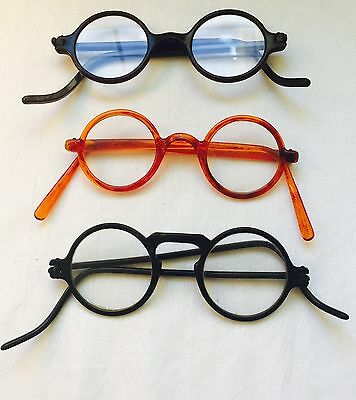 Antique / Vintage LOT of 3 Celluloid HAROLD Lloyd LOOKING Eyeglasses SPECTACLES