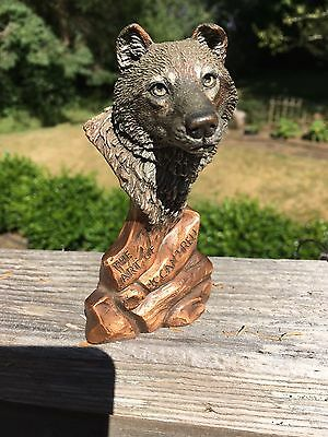 Wolf Sculpture ~ The Art of Kitty Cantrell 1993 Legends Gallery. Numbered 1016..