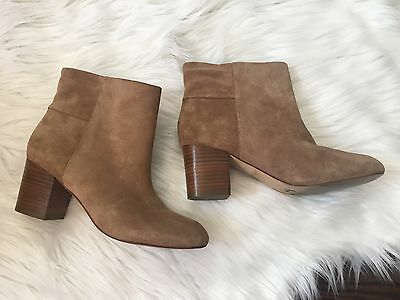 Banana Republic Suede Heeled Ankle Boots Size 7 Tan Blogger Boot Boho Gypsy