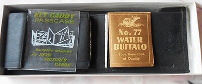 Very Rare Mr. Pibb Water Buffalo Leather Wallet - Executive Gift - Mip
