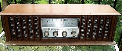 Vintage 1970's Ross Electronics Corporation AM/FM Wood Tabletop Radio-Works-COOL