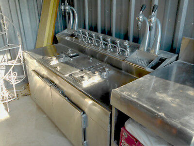 Grand Rapids Cabinet Company 1950's Four Jerk Stainless Steel Soda Fountain