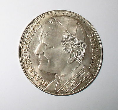 Lot of 2 - JOHN PAUL II SILVER COMMEMORATIVE MEDALS - COINS - TOKENS - AS IMAGED