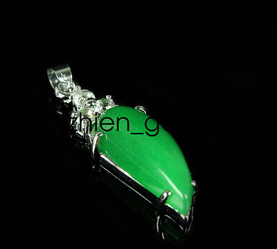 Chinese Exquisite  Malay jade Pendant Green Pepper