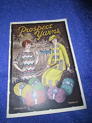 Rare Vintage Prospect Yarn Manual Vol. 5 Knitting-New York City-1922 Booklet