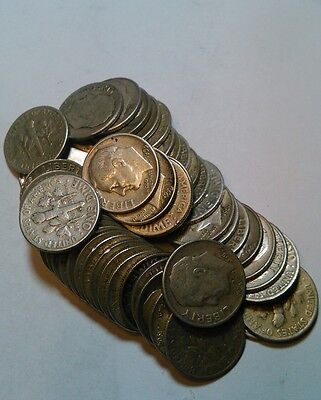 $5.00 roll ROOSEVELT DIMES SILVER