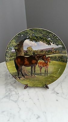 Spode Collector Plate The English Thoroughbred, by Susie Whitcombe, 1988